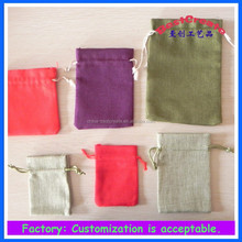Factory Custom Imitation linen bag with drawstring