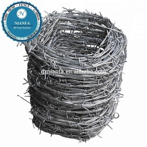 Guangzhou Galvanized safety barbed wire/galvanized decorative barbed wire fencing/barbed wire