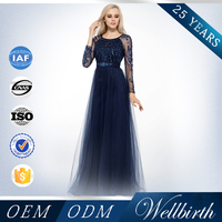 Wholesale High Neck Long Sleeve Plus Size Designer Evening Gowns
