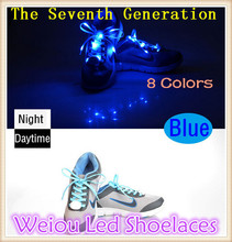 Weiou 2016 Seventh Generation colorful led flashing shoelaces High quality shoes blue led shoelaces
