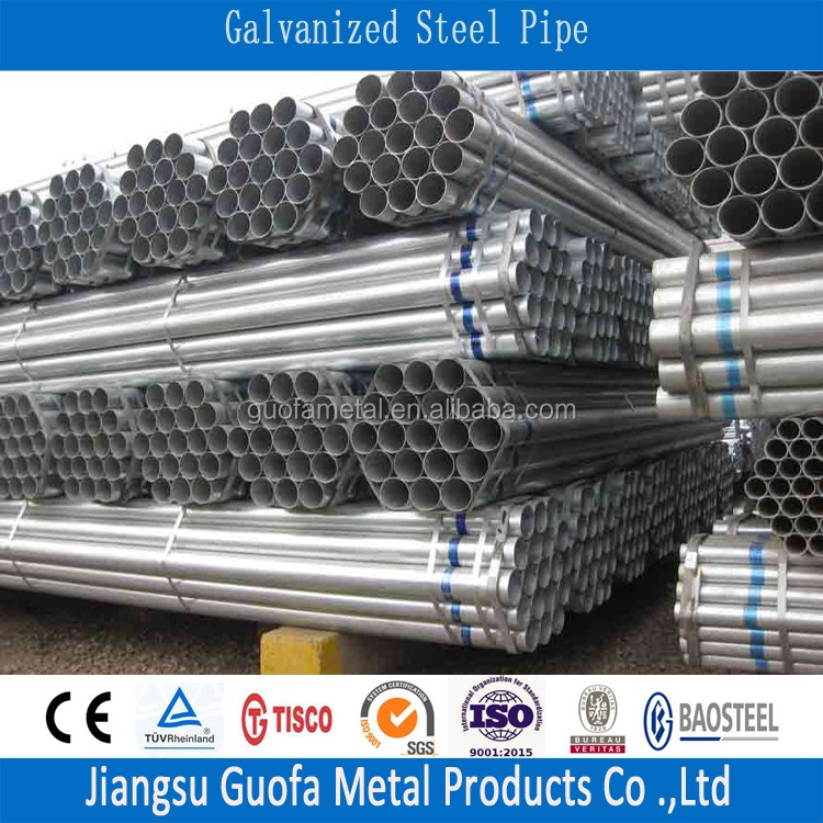 40g Zinc Coating ASTM A312 Q215B SML Galvanized Steel Tube
