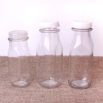 240ml 350ml 400ml 900ml Hot sale wide mouth square milk bottle with cap