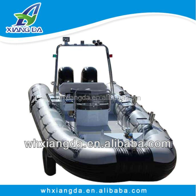 PVC inflatable aluminum rigid hull yatch luxury boat