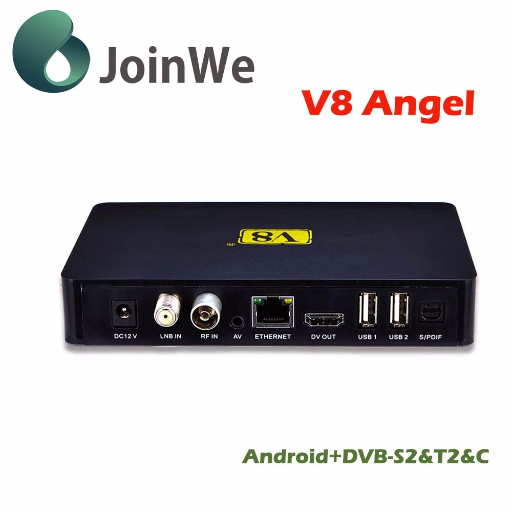Best generation 1080P HD porn video V8 Angel DVB-S2+T2+Cable+kodi IPTV Android 4.4 OS Satellite receiver V8 Angel