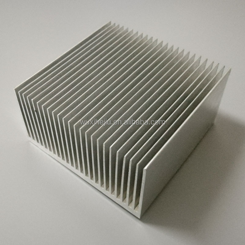 Aluminum extruded heatsink 64(W)*34(H)*64(L)mm for high power TEC cooler
