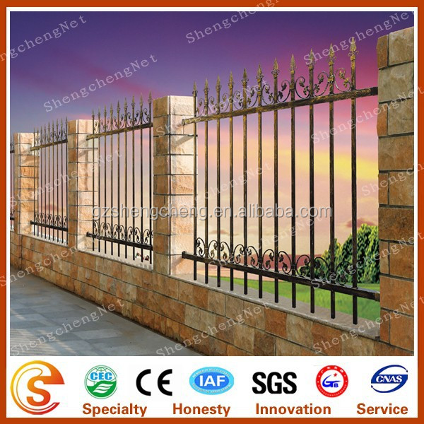 Backyard metal fence Antique metal fence for villa residence