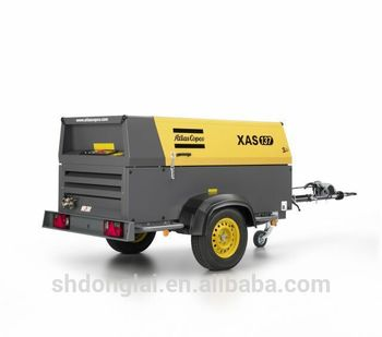 7bar portable diesel air compressor