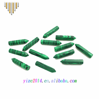 2017 hot sale synthetic peacock green bullet shape gemstones pendant
