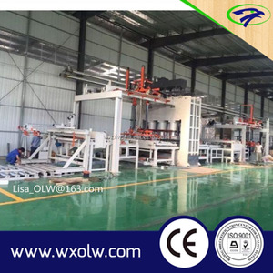 Automatic melamine particle board/mdf laminating hot press machine line