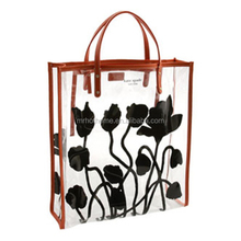 Fashion Clear PVC Transparent Tote Shopping Bag in wuhan hothome
