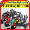 Body Red black For HONDA Injection CBR250R MC41 11-13 11CL14 CBR 250R CBR250 R 11 12 13 Gloss red blk 2011 2012 2013 Fairing