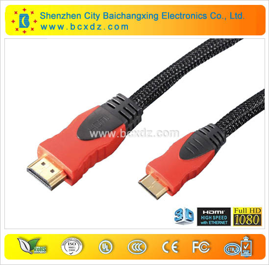 Hot sell hdmi plug pin 1.4v 1080p hdmi cable and hdmi cable converter to rca cable with Etherent