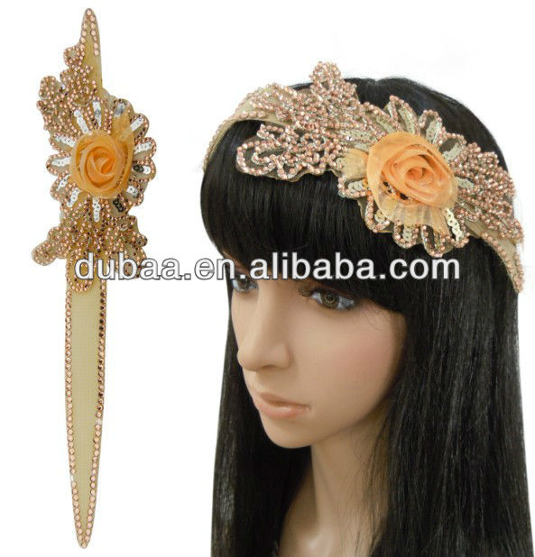 Fashion Ladies Flower Topknot,New Ladies Flower Headbands with Rhinestones,Enchanted Boutique Flower Head Band