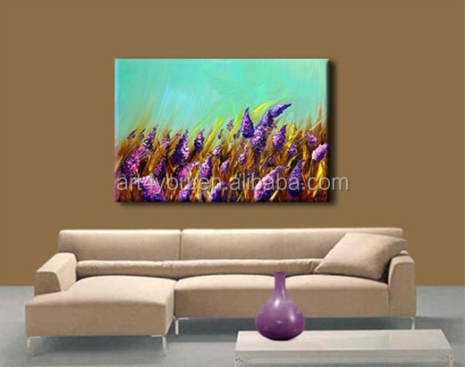 Canvas Handpaint Texture Flower Painting 56148