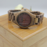 Newest model 100% natural maple wooden wood watch luxury custom branded wristwatch bracelet