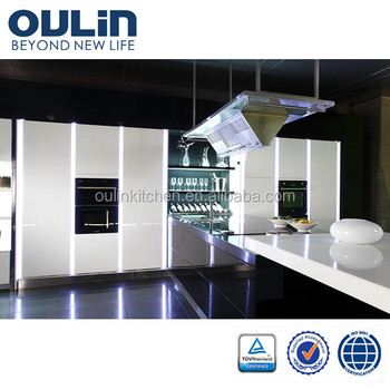 Oulin high quality lacquer kitchen cabinet