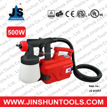 JS Paint Spray Gun Electric Painting Sprayer Professional House Tools 500W DIY HVLP, JS-910FF