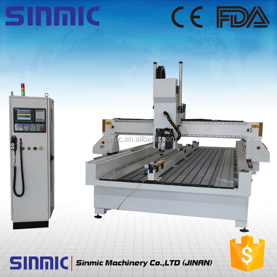 cheap 4 aixs rotary 1530 3d used wood cnc router for sale