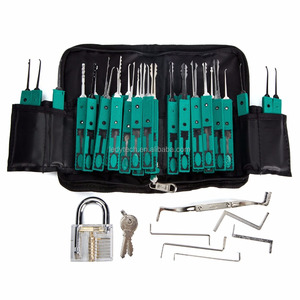 38PCS Locksmith pick lock set with Transparent Lock pick set