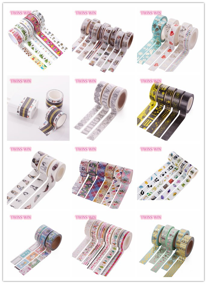 2018 Low cost Hot Sale Custom Printed china General Purpose self adhesive kraft paper washi colored masking tape