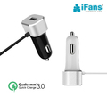 Quick Charge 3.0 Car Charger with Built-in USB C Adapter Type C Cable