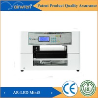 hot selling automatic printer print on uv glass uv led digital inkjet printing machine for AR-LED Mini5