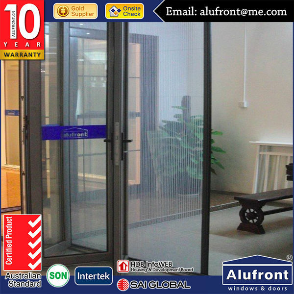 European Design Aluminum Bi folding Door With Accordion Screen