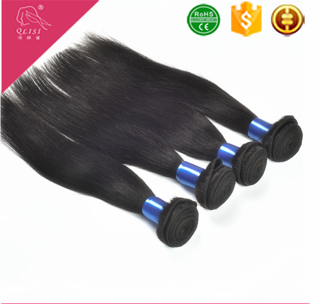 Silk Straight Human Hair Extension 100% India Temple Human Hair