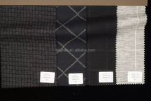Wool blended check print wool fabrics