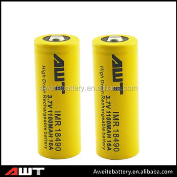 High power 1100mah battery 3.7v li-ion AWT 18490 rechargeable battry phone battery