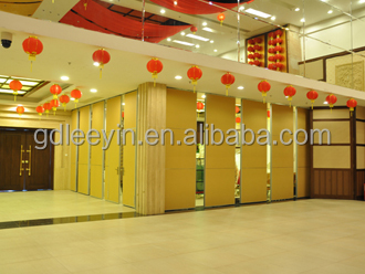 soundproof operable acoustic dividers for hotel, conference hall, restaraut,etc