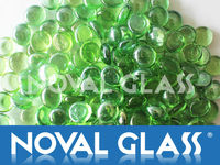 Transparent glass beads, Decorative Glass Cobblestone, Color combination glass beads