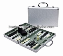 Backgammon In Aluminum Case / chess and backgammon