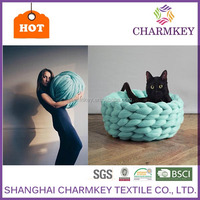 Chunky Cat Bed Yarn Thick merino wool Chunky knitting Yarn for pet Bed