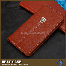 PU leather flip cover for samsung galaxy j7 wallet phone case