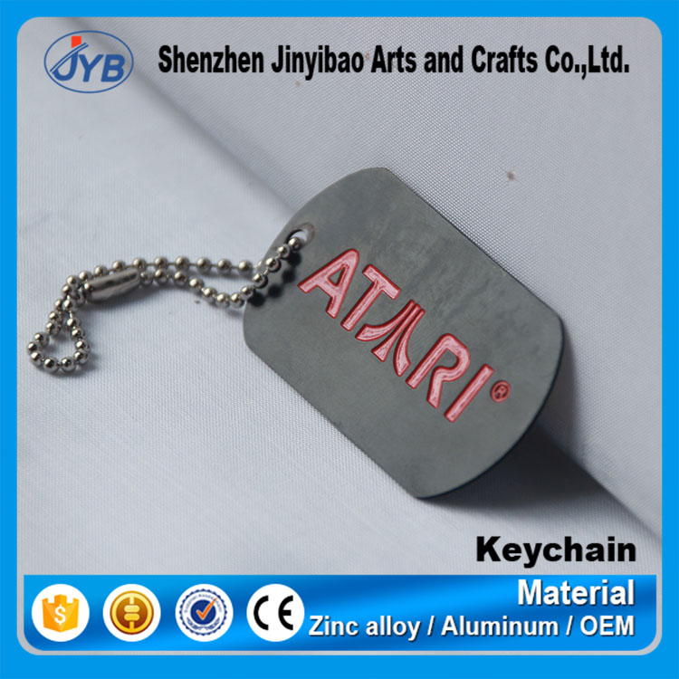 high quality custom name tag metal keychain