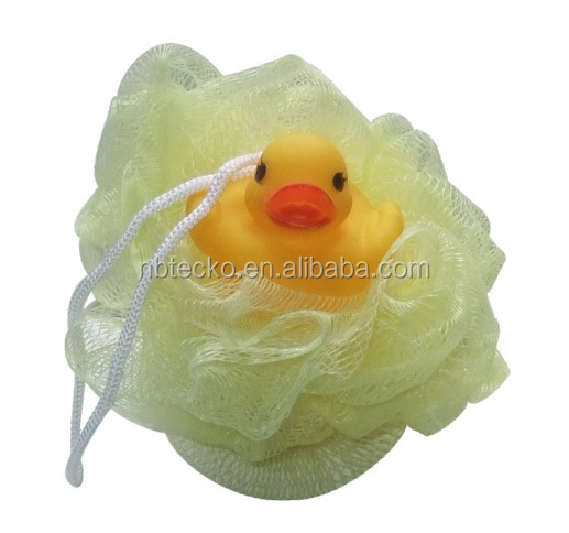 Different colors soft and comfortable bath mesh puff bath ball sponge