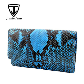OEM ODM Luxury Wome Python Clutch Snake Skin Big Purse Clutch Wallet