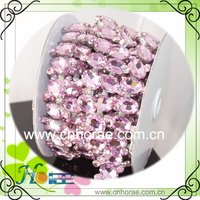 hotselling high quality crystals wedding trimming rhinestone costume chain
