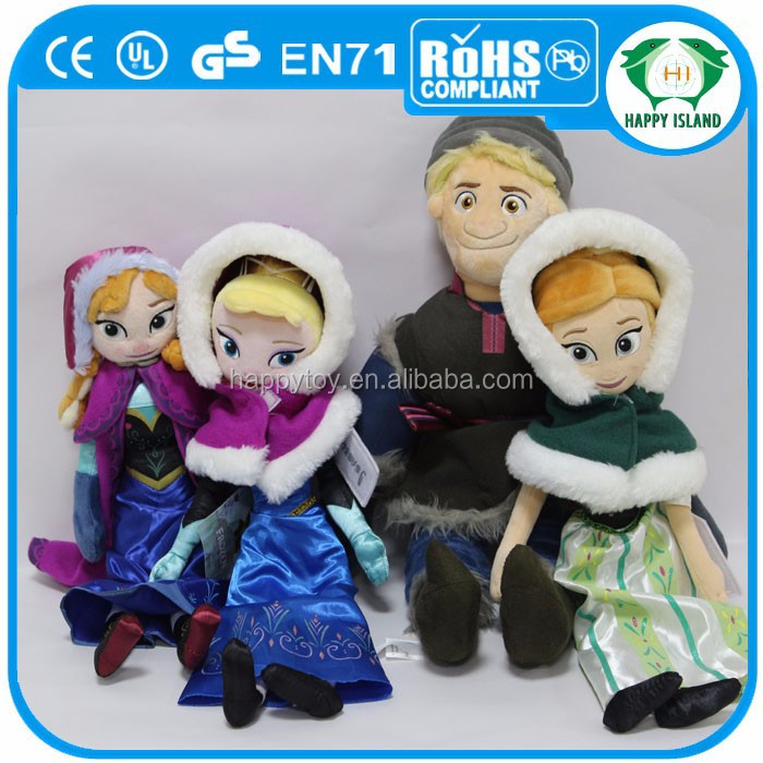 Happy Island CE wholesale movie character plush toy, frozen soft plush toy , high quality movie cartoon character plush toy