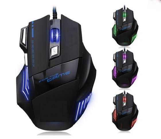 Led Light Game Mouse 6D Wired Optical Mouse for Games