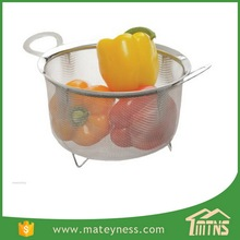 3 Quart Stainless Steel Wide Rim Wire Mesh Basket
