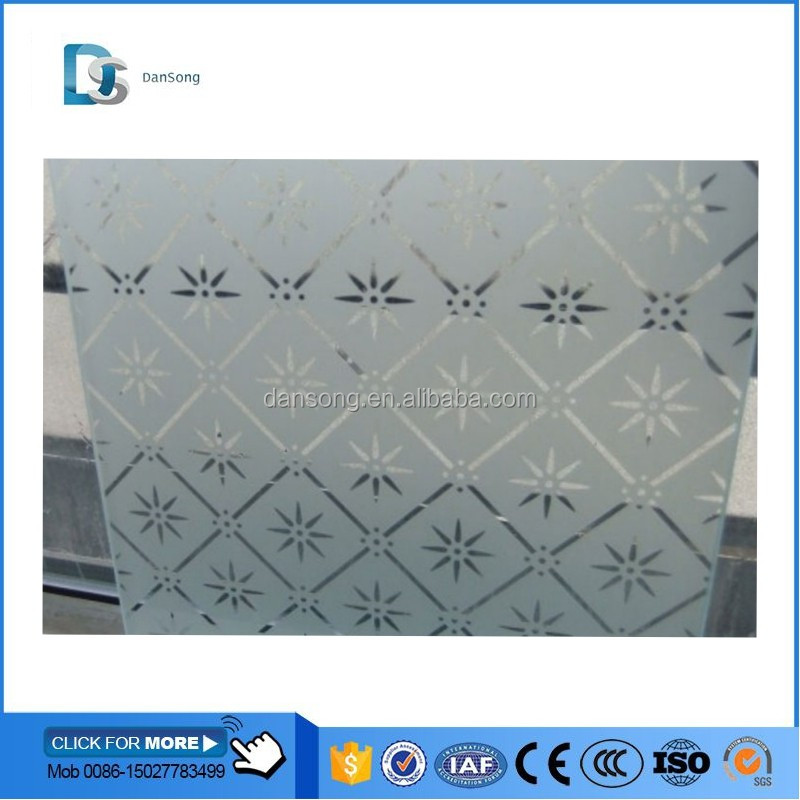 DanSong provide Acid Etched Glass Tempered Glass with CCC/ISO