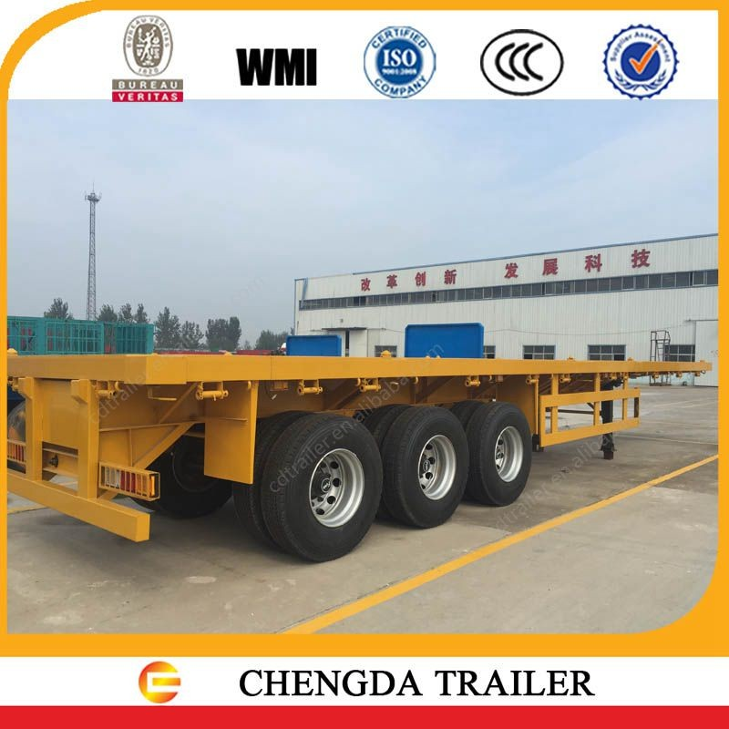trucks and trailers games 3 axle flatbed container semi-trailer for sale
