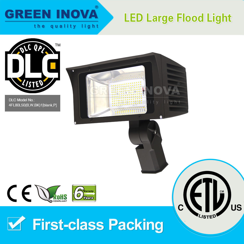 ETL DLC Premium listed Top quality ip65 high power outdoor led flood light