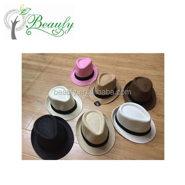 2017 Shandong Qingdao Cheap Promotion Paper Cloth Fedora Hat