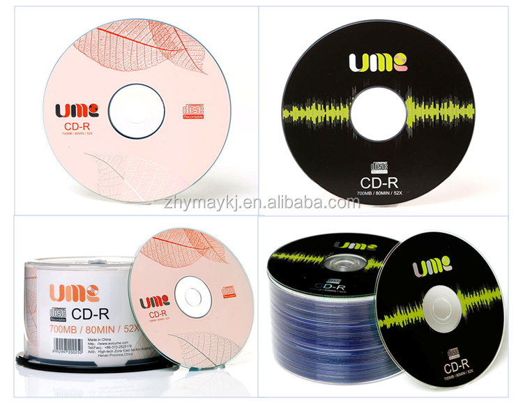 Hot Sale Blank CD-R 700MB White Spinning Disc