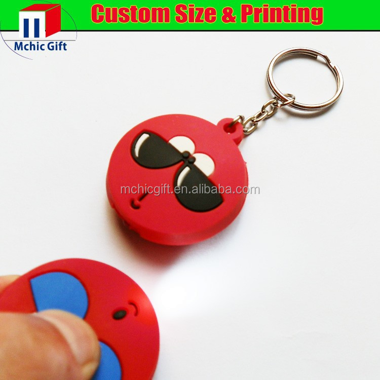 cheap eco-friendly soft pvc rubber flashing personalized key cover
