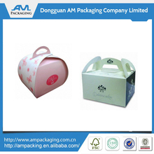 Eco-friendly cupcake cake boxes cheap folding carton boxes with handles