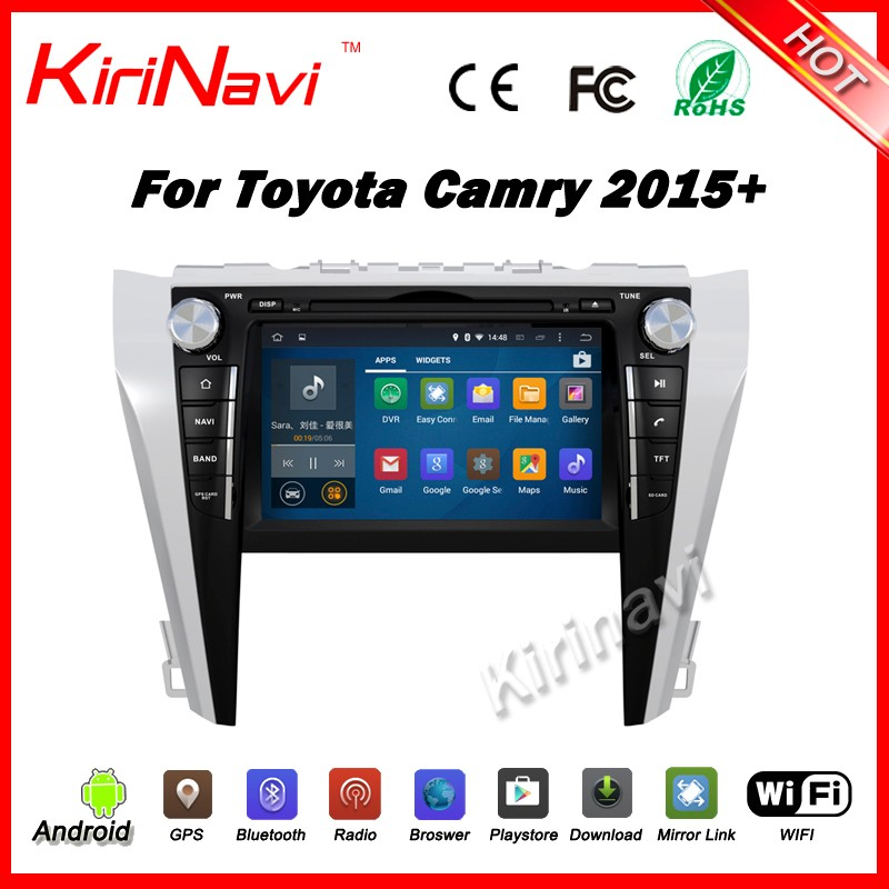 Kirinavi WC-TC9004 android 5.1 car gps navigation for toyota camry 2015 2016 car radio tomtom dvd player stereo wifi & 3G